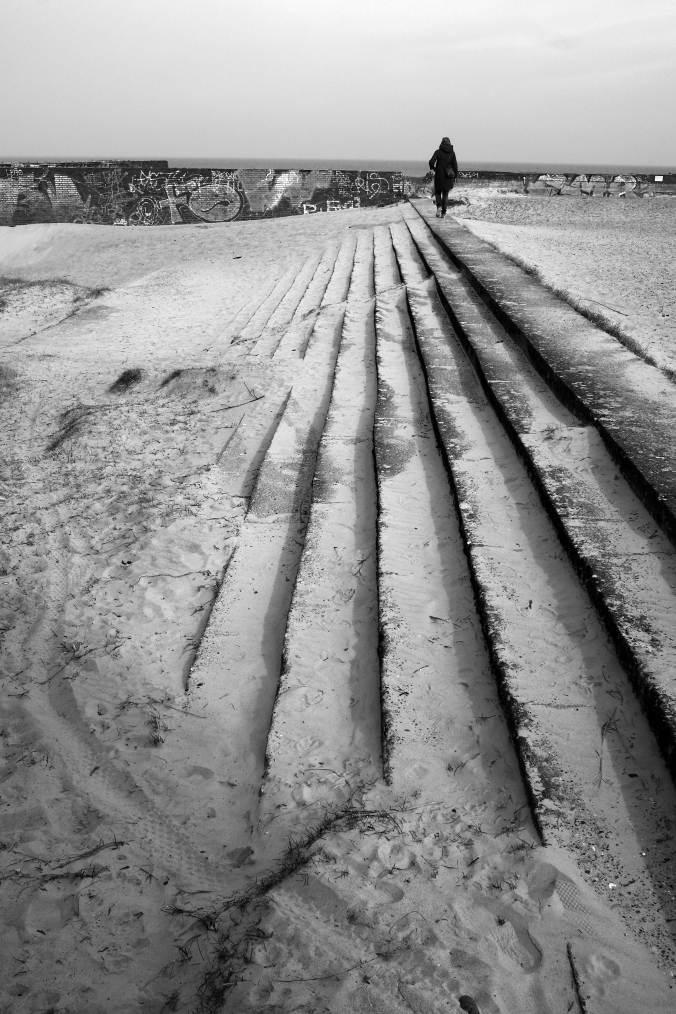 Stufen im Sand
